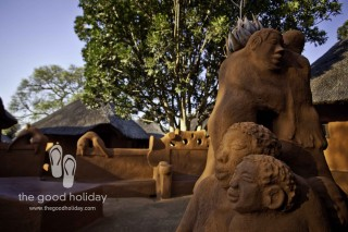 Leshiba Wilderness Eco-friendly Private Game and Nature Reserve Courtyard