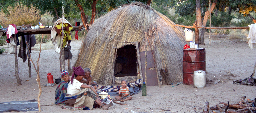 San people Nhoma Safari Camp Namibia Huts
