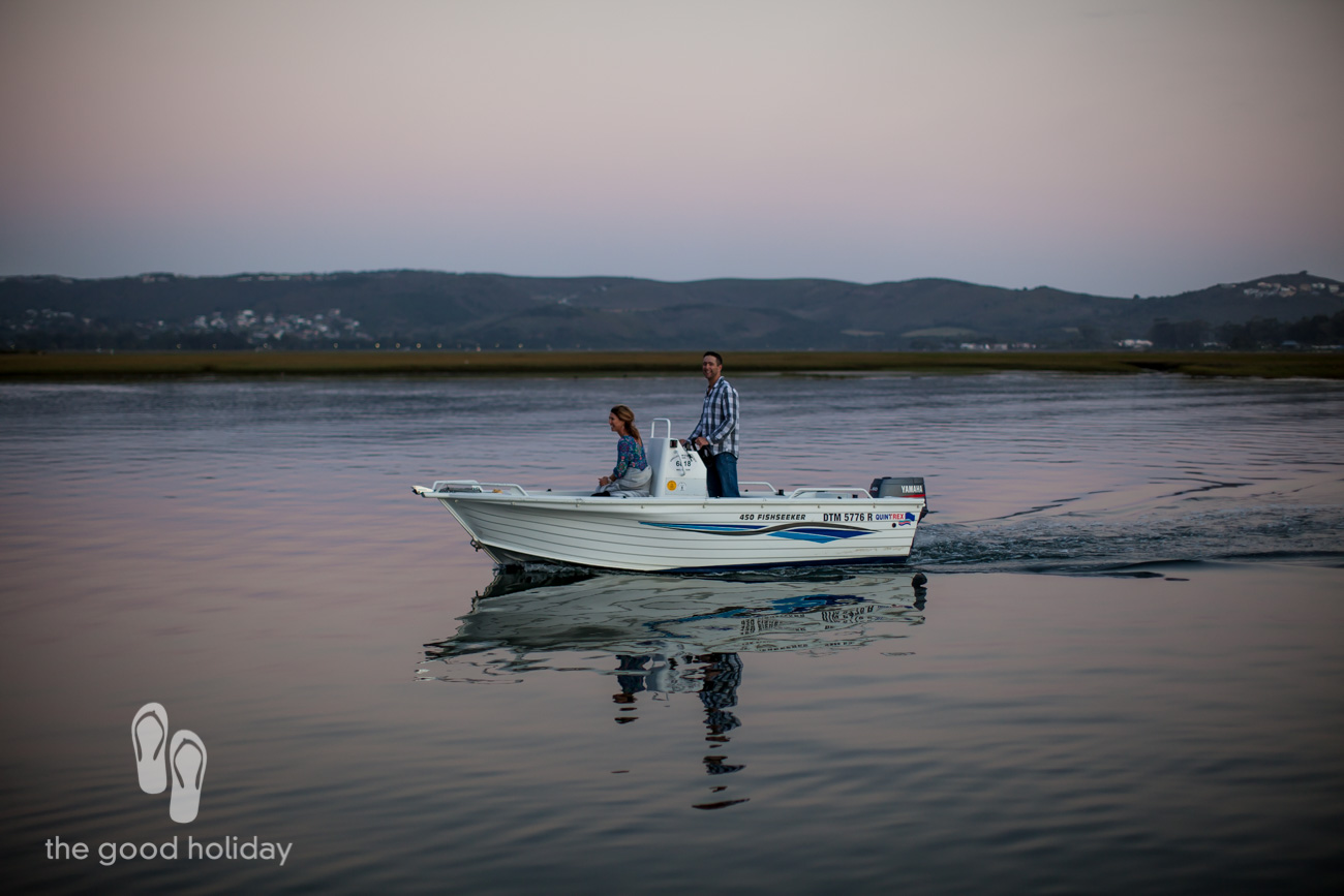 Couple on Knysna Lagoon at Sunset